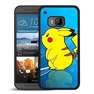 Pokemon Popular Cute and Funny Pikachu 18 Black HTC ONE M9 Cell Phone Case Durable and Custom Designed Case