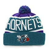 '47 Charlotte Hornets Vintage Calgary Beanie Hat with Pom - NBA New Orleans Cuffed Winter Knit Toque Cap