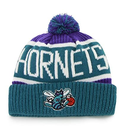 cc513d5762a  47 Charlotte Hornets Vintage Calgary Beanie Hat with Pom - NBA New Orleans  Cuffed Winter