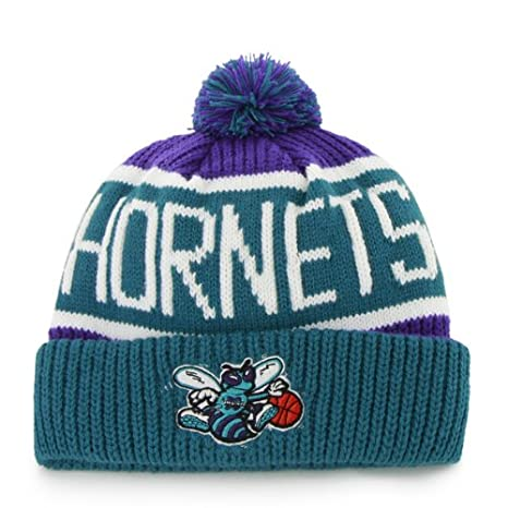e7b837e923ec4  47 Charlotte Hornets Vintage Calgary Beanie Hat with Pom - NBA New Orleans  Cuffed Winter