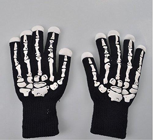 Acekid LED Gloves Rave Light Finger Lighting Colorful Flashing Gloves Unisex skeleton