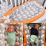 Baby nest bed or toddler size nest, orange and foxes, portable crib, co sleeper babynest for newborn and toddler size nest bed, grand nest, crib bumper, positioner, baby bassinet, cocoon newborn
