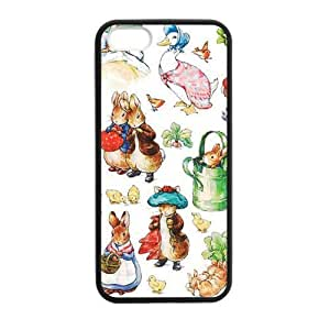 [Accessory] iPhone 5 Case, [peter rabbit] iPhone 5,5s Case Custom Durable Case Cover for iPhone5s TPU case (Laser Technology)