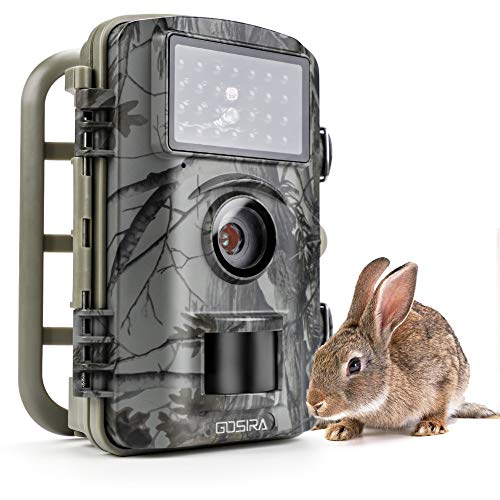 Gosira Trail Camera Motion Activated No Flash Night Vision 940nm Updated IR LED 12MP Hunting 0.5s Trigger Game Cam Wide Senor Indoor Outdoor Nature Garden Home Security