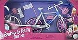 Barbie & Kelly Bikin' Fun Play Set w BIKE, Carrier, HELMETS & More (1997 Arcotoys, Mattel)