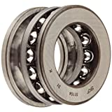SKF 51104 Single Direction Thrust Bearing, 3 Piece, Grooved Race, 90\xb0 Contact Angle, ABEC 1 Precision, Open, Steel Cage, 20mm Bore, 35mm OD, 10mm Width, 4680lbf Static Load Capacity, 2860lbf Dynamic Load Capacity