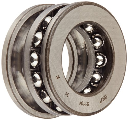 ection Thrust Bearing, 3 Piece, Grooved Race, 90° Contact Angle, ABEC 1 Precision, Open, Steel Cage, 20mm Bore, 35mm OD, 10mm Width, 4680lbf Static Load Capacity, 2860lbf Dynamic Load Capacity (Grooved Ball Bearing)