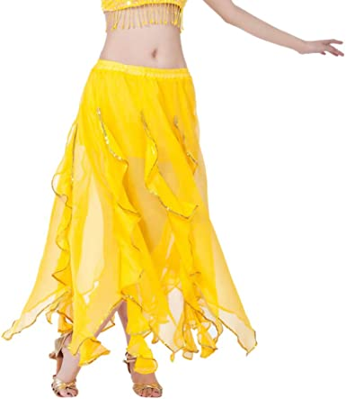 Lenfesh Mujer Swing Maxi Falda Ropa Danza Moderna Larga Falda Tutú ...