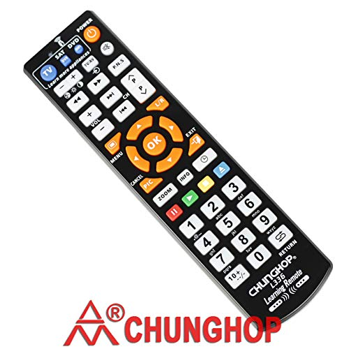 CHUNGHOP Universal IR Learning Remote Control for TV with Learn Function for Smart TV CBL DVD SAT in 3 Devices One Key Learning Original L336 (Ir Learning)