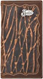 Justin Brown Distressed Leather Rodeo Wallet Sanded Concho