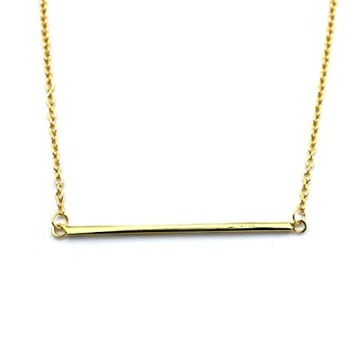 jewelry products brevity crossbar signature necklace