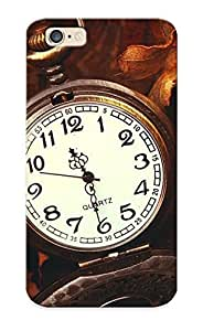 5d855aa1764 New Premium Flip Case Cover Pocket Watch Time Clock Bokeh Skin Case For Iphone 6 As Christmas's Gift