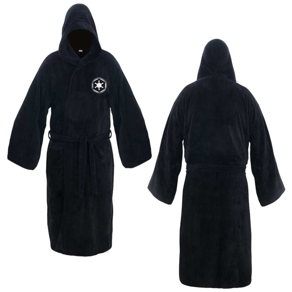 20b8ca7eb9 Amazon.com  Star Wars Galactic Empire Black Cotton Hooded Bathrobe  Clothing