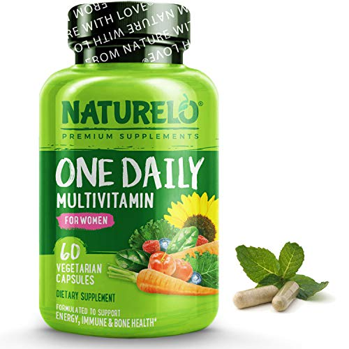 NATURELO One Daily Multivitamin for Women – Energy Support – Whole Food Supplement to Nourish Hair, Skin, Nails – Non…