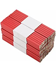 Carpenter Pencil Red, Hard Construction Pencil Comfortable to Use and not Easy to Break Woodworking Marking Tool for Carpenter Joiner DIY and Builder.(72Pcs 175mm)