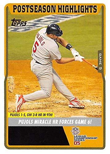 2005 Nlcs Game - Albert Pujols baseball card Game Winning Home Run NLCS Highlight (St Louis Cardinals MVP) 2005 Topps #UH129