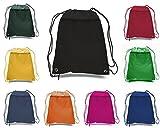 PACK OF 3 (PURPLE) BagzDepot Promotional Polyester Drawstring Backpack, Cinch pack, Sack bag