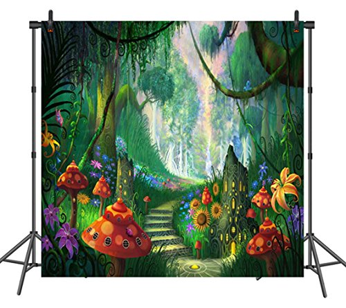 Nature Theme Backdrop Rainforest Photo Booth Backdrop Seamless Photography Background Nature Themed Party Supplies Party Decorations 8x8ft Silk
