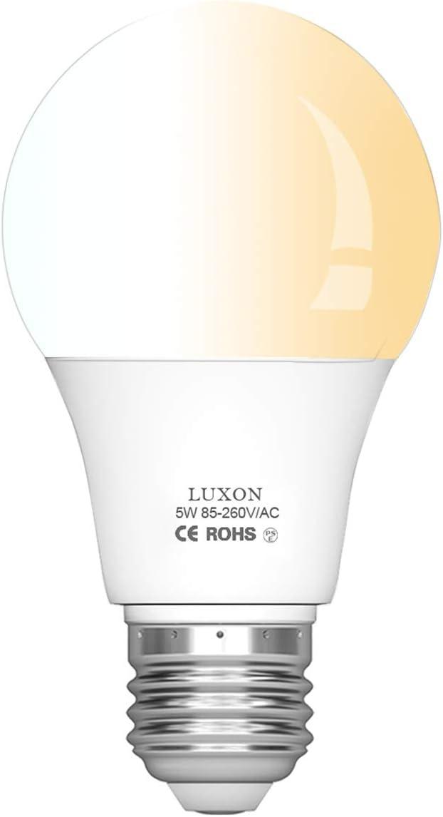 Led Motion Sensor Light Bulbs 5w Radar Medium Base E26 Night Light Soft White 2700k Amazon Co Uk Lighting