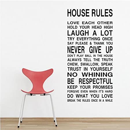 House rule diy removable art vinyl quote wall sticker decal mural home room d¨¦