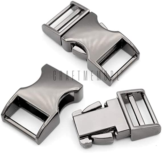 """100pcs//lot Black plastic 3//8/"""" 10mm Curved Side Release Buckles Curved Clasp fo"""