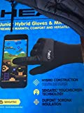HEAD Junior Hybrid Gloves, Black M