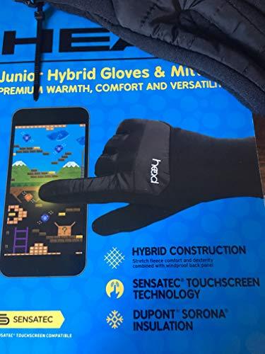 - HEAD Junior Hybrid Gloves, Black M