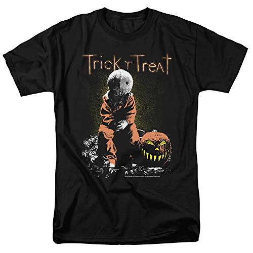 Trick 'r Treat Movie Sam T Shirt & Stickers (X-Large) Black