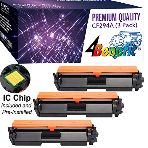(4Benefit Compatible CF294A Toner Cartridge Replacement for HP 94A CF294A for HP Laserjet Pro M118dw Laserjet Pro MFP M148dw Laserjet Pro MFP M148fdw Black 3 Pack 1200 Page Yield)