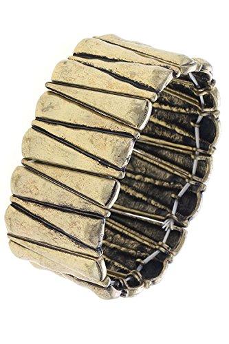 THE JEWEL RACK SPIKE LINK METAL BRACELET (Antique Gold)