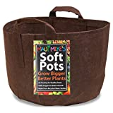 SOFT POTS (65 GALLON) AERATION GARDEN POTS FROM MAUI MIKE'S. SEWN HANDLES FOR EASY MOVING.