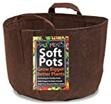 Soft Pots from Maui Mike's Best Fabric Pot with Thick Sewn Handles for easy moving. (5 Gallon)