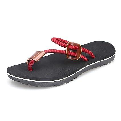 32d6f7a28ee3 Amazon.com: Sumen Mens Flip Flops Slippers Outdoor Antiskid Beach ...