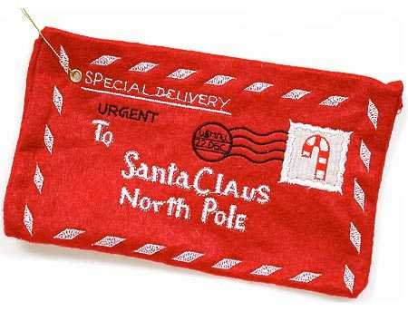 (Letter to Santa Red Felt Envelope Christmas Decoration Ornament)