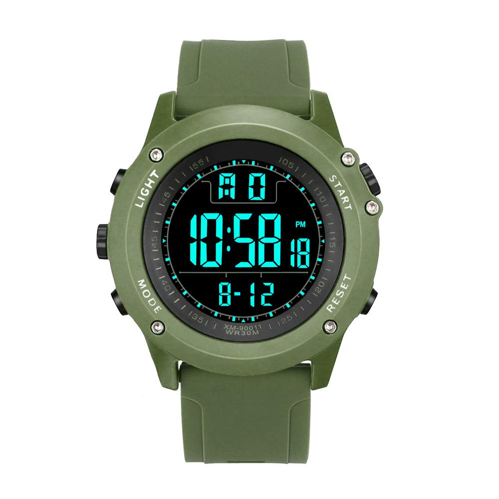 Koolsants Luxury Men Analog Digital Military Army Sport LED Waterproof Wrist Watch