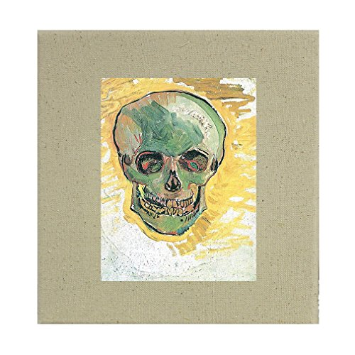 Style in Print Skull #1 (Van Gogh) Cotton Canvas Stretched Natural Canvas - 12