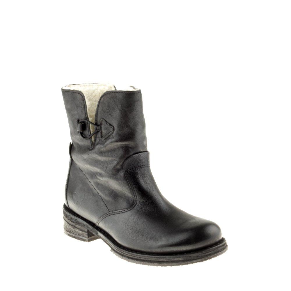 Felmini Damen Schuhe - Verlieben Cooper A429 - Klassik Stiefel - Echtes Leder - Schwarz