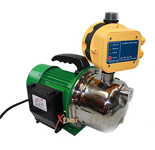 Gracelove New 1.5HP Stainless Jet Booster Water Pressure Pump w/Automatic (Jet Booster)