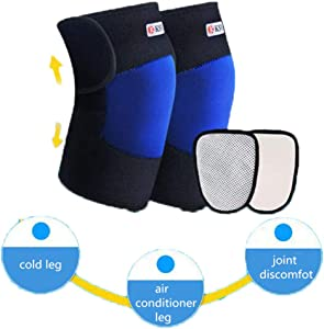 Chang Self Heating Knee Pads,Tourmaline Heated Magnetic Therapy Kneepad Brace Pain Relief Arthritis Support Knee Sleeve Pad,Red