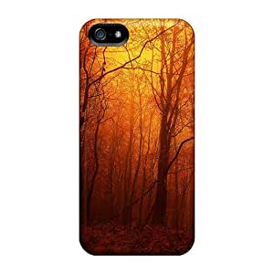 Top Quality Case Cover For Iphone 5/5s Case With Nice Orange Forest Appearance
