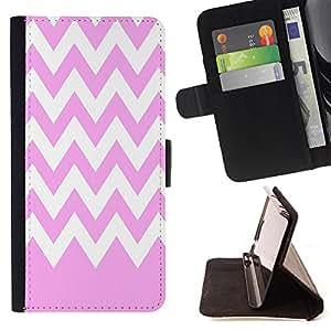 Dragon Case - FOR Samsung Galaxy S6 EDGE - Shallow pink white waves - Caja de la carpeta del caso en folio de cuero del tirš®n de la cubierta protectora Shell