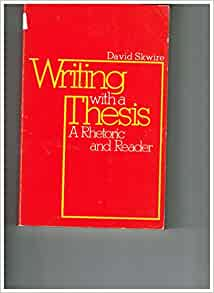 Writing with a thesis 12th edition