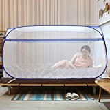 XRXY Mosquito Net Simple Square Top Yurt Mosquito Net/Dorm Room Bunk Beds Practical Mosquito Net/Fully Enclosed Encryption Anti Mosquito Cover (3 Colors Available) (Color : B)