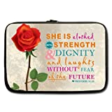 Bible Verse Laptop Bag - Style Cool Bible Verse With Rose 13 13.3 inch Laptop Sleeve Bags for Notebook,Macbook Pro,Macbook Air