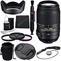 Nikon AF-S DX NIKKOR 55-300mm f/4.5-5.6G ED VR Lens + 58mm 3 Piece Filter Set (UV, CPL, FL) + Lens Cap + Lens Cleaning Pen + Lens Hood Bundle