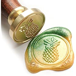 UNIQOOO Arts & Crafts Tropical Fruit Pineapple Wax Seal Stamp- Great for Embellishment of Envelopes, Invitations, Wine Packages, etc- Exceptional Gift Idea for Creative and Artistic Types
