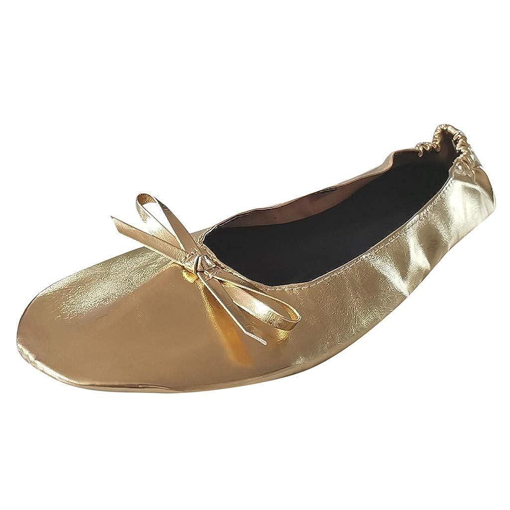 ESAILQ Zapatos Plegables Port/áTiles De Las Zapatillas De Ballet De Viaje del Ballet De Viaje Port/áTil Zapatos De Baile