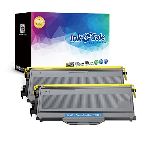INK E-SALE TN-360 TN-330 High Yield Toner Cartridge Compatible For Brother Printer MFC-7840W HL-2140 HL-2170W Series (Black 2-Pack)