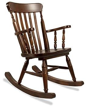 b7f998c8d Mecedora sillón rústica de madera de pino - color bruto: Amazon.es: Hogar