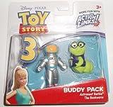 Disney Pixar Toy Story 3 Action Links Mini Figure Buddy 2Pack Astronaut Barbie The Bookworm